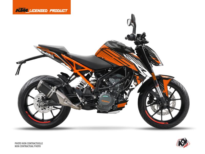 Kit Déco Moto Perform KTM Duke 125 Orange Noir