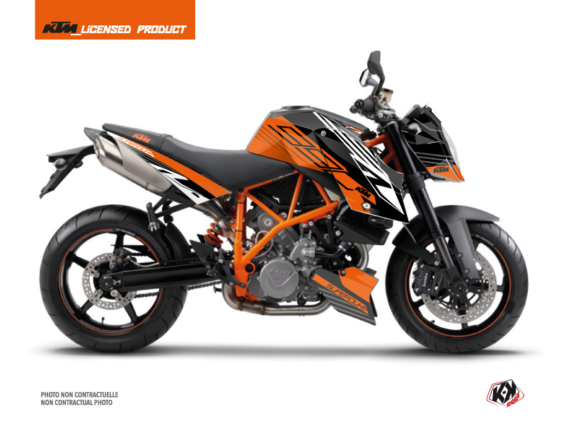 KTM Super Duke 990 Street Bike Perform Graphic Kit Orange Black