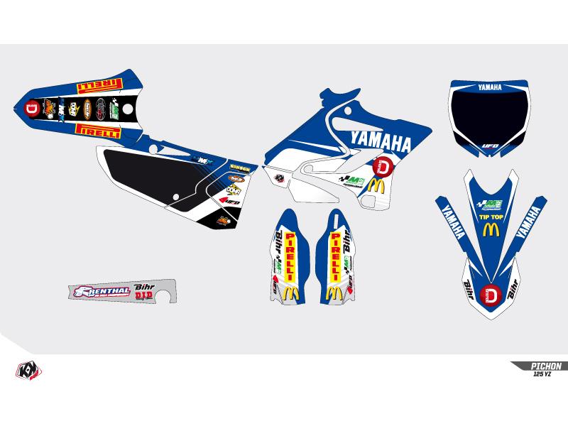 Kit Déco Moto Cross Replica Team Pichon Yamaha 250 YZF 2015