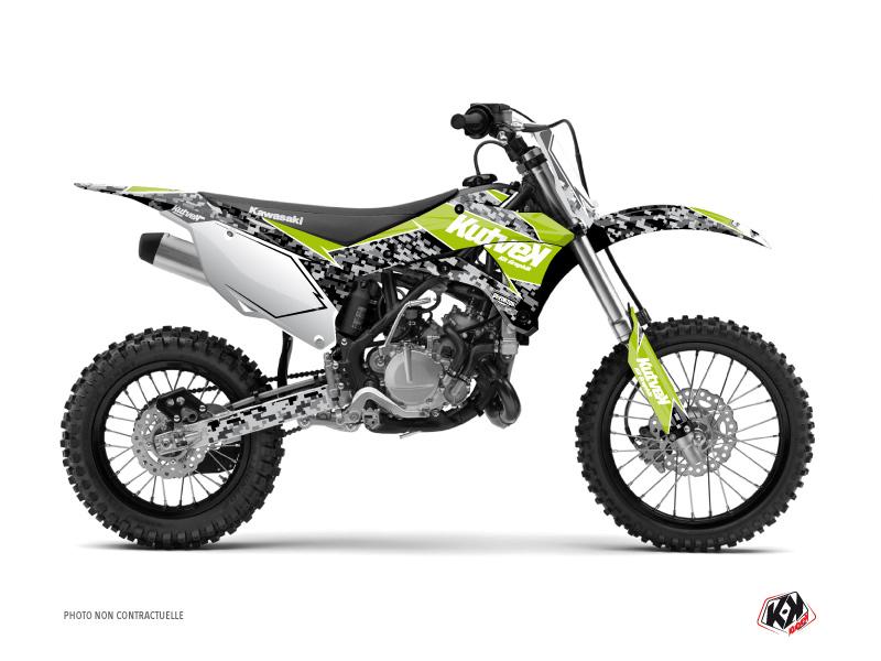 Kawasaki 110 KLX Dirt Bike Predator Graphic Kit Green