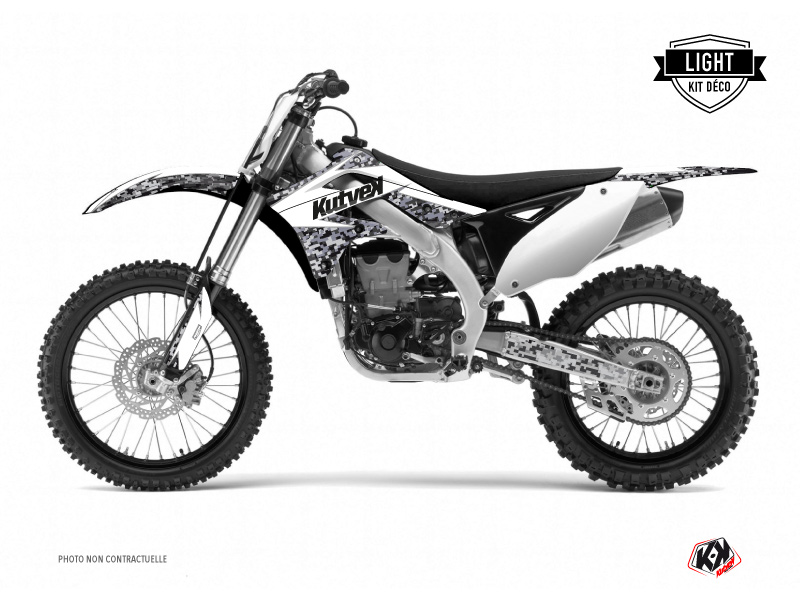 Kawasaki 125 KX Dirt Bike Predator Graphic Kit White LIGHT