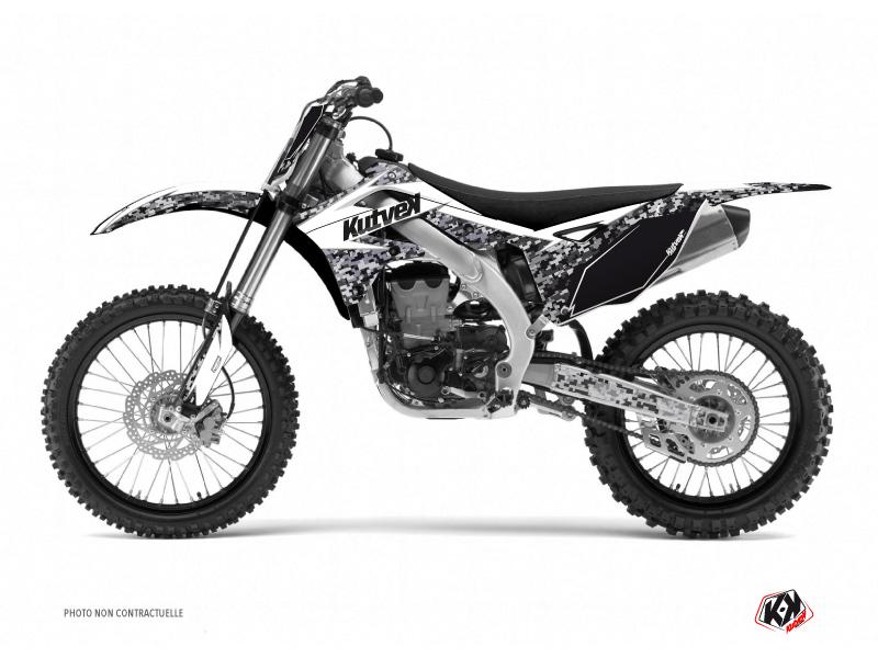 Kawasaki 125 KX Dirt Bike Predator Graphic Kit White