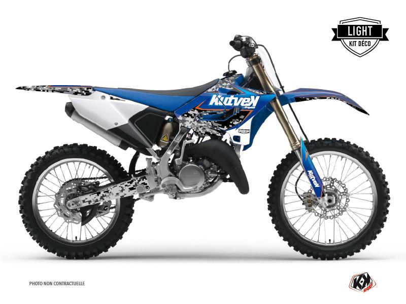 Kit Déco Moto Cross Predator Yamaha 125 YZ Noir Bleu LIGHT