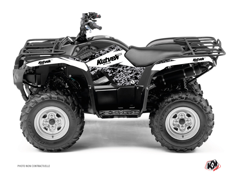 Yamaha 125 Grizzly ATV Predator Graphic Kit White
