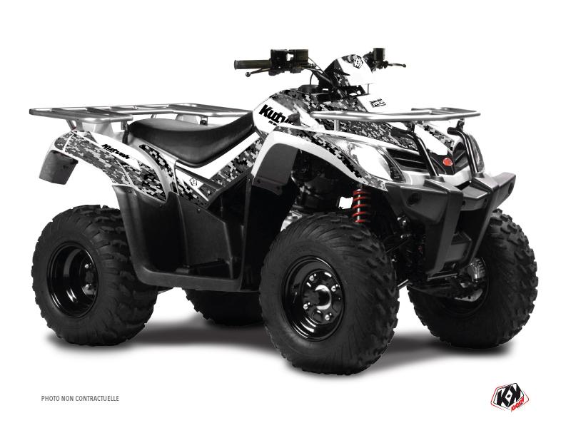 Kymco 250 MXU ATV Predator Graphic Kit White