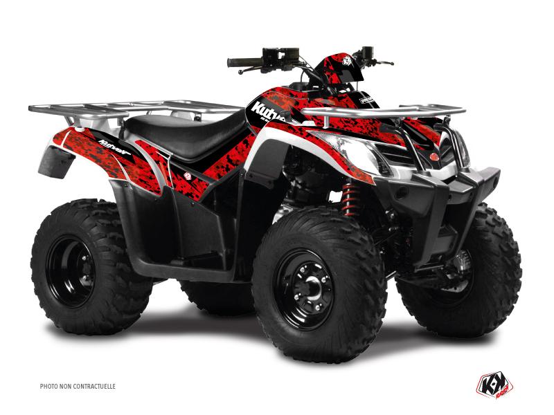 Kymco 300 MXU ATV Predator Graphic Kit Red Black