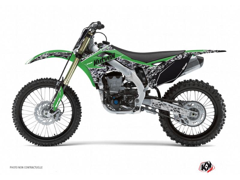 Kawasaki 250 KXF Dirt Bike Predator Graphic Kit Green