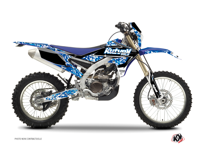 Yamaha 250 WRF Dirt Bike Predator Graphic Kit Blue