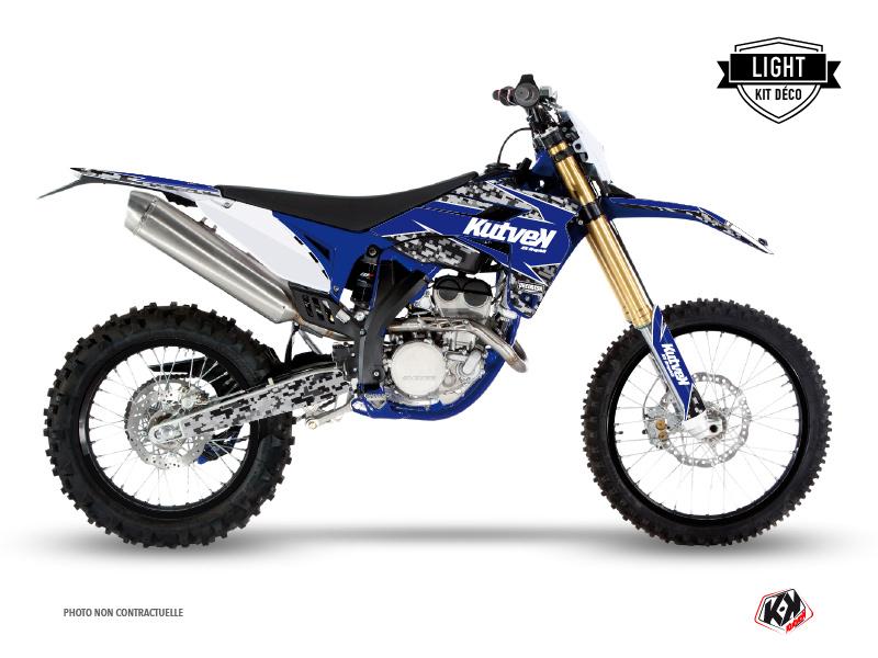 Kit Déco Moto Cross Predator Sherco 300 SE R Noir Bleu LIGHT
