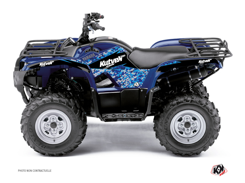 Yamaha 350 Grizzly ATV Predator Graphic Kit Blue