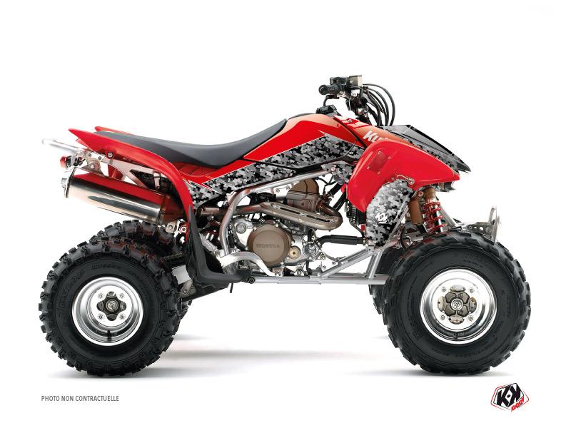 Honda 400 TRX ATV Predator Graphic Kit Black Red