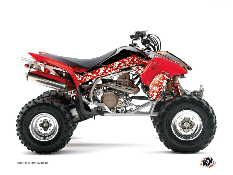 Honda 400 TRX ATV Predator Graphic Kit Red
