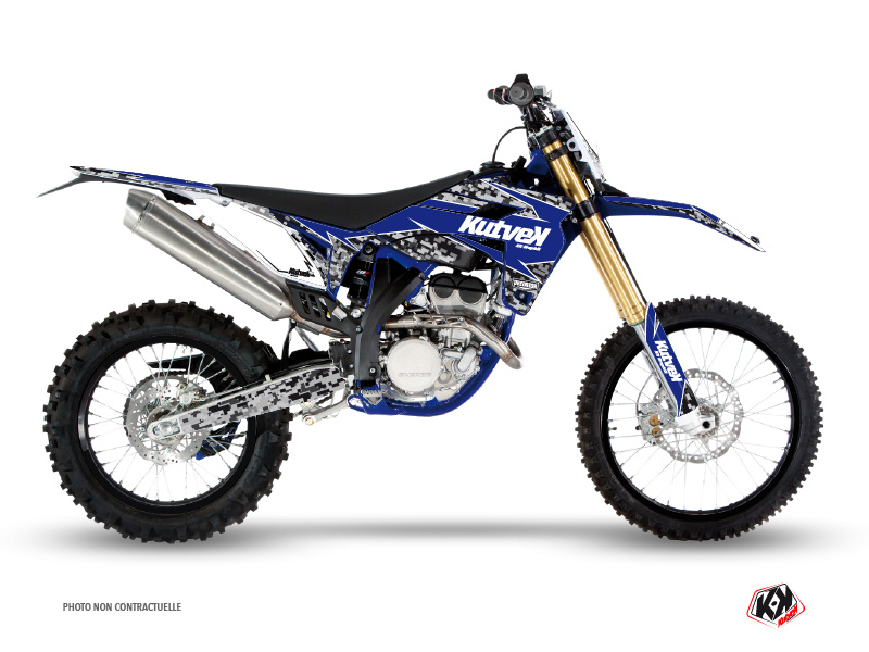 Sherco SE / SEF Dirt Bike Predator Graphic Kit Black Blue
