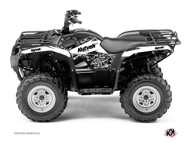 Yamaha 450 Grizzly ATV Predator Graphic Kit White