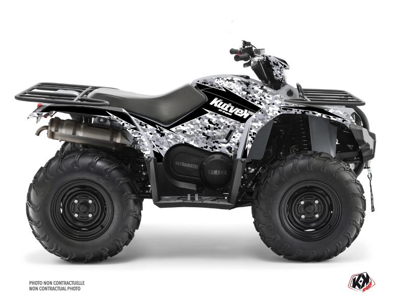 Yamaha 450 Kodiak ATV Predator Graphic Kit Grey