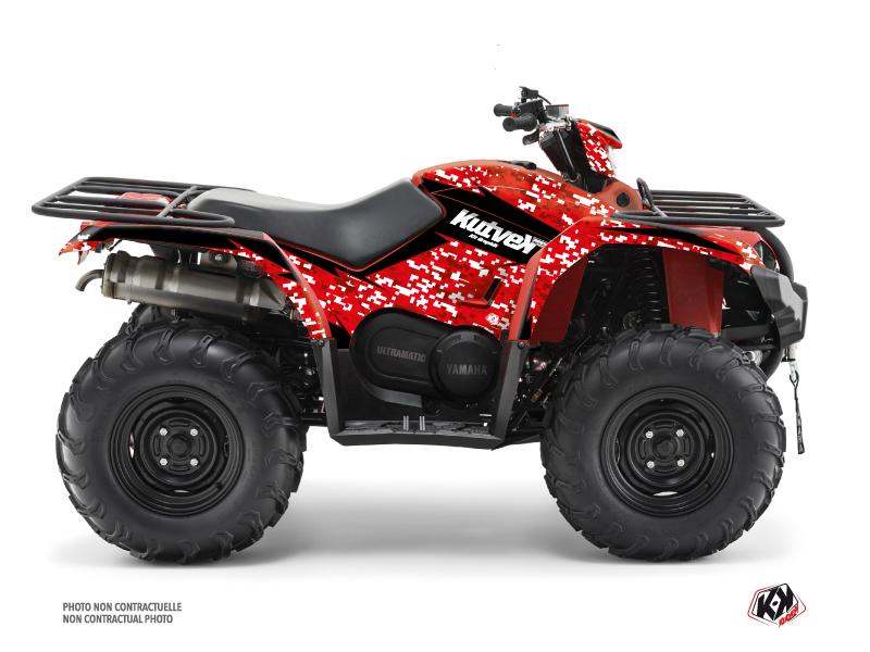 Yamaha 450 Kodiak ATV Predator Graphic Kit Black Red