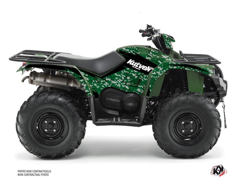 Yamaha 450 Kodiak ATV Predator Graphic Kit Black Green