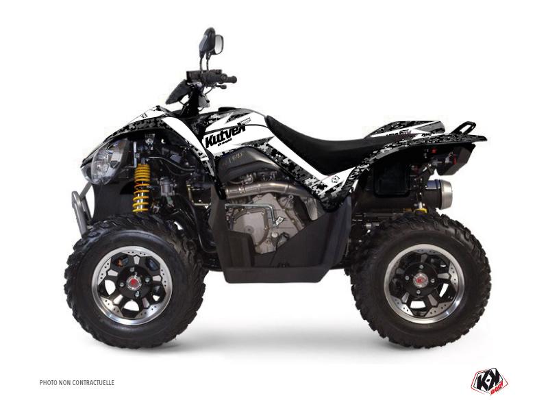 Kymco 450 MAXXER ATV Predator Graphic Kit White