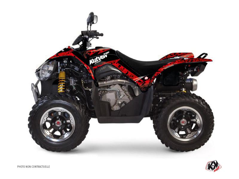 Kymco 450 MAXXER ATV Predator Graphic Kit Red Black