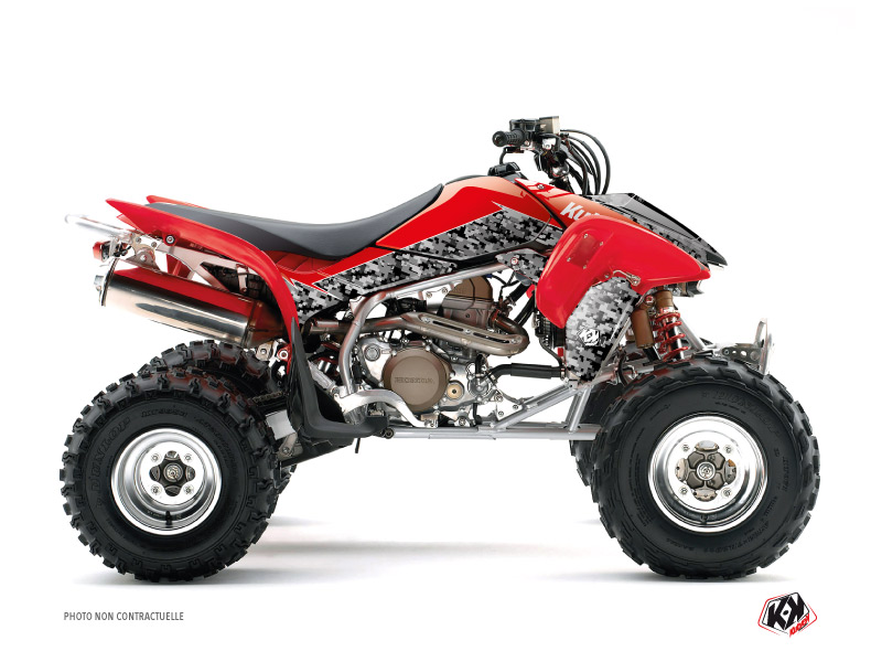 Honda 450 TRX ATV Predator Graphic Kit Black Red