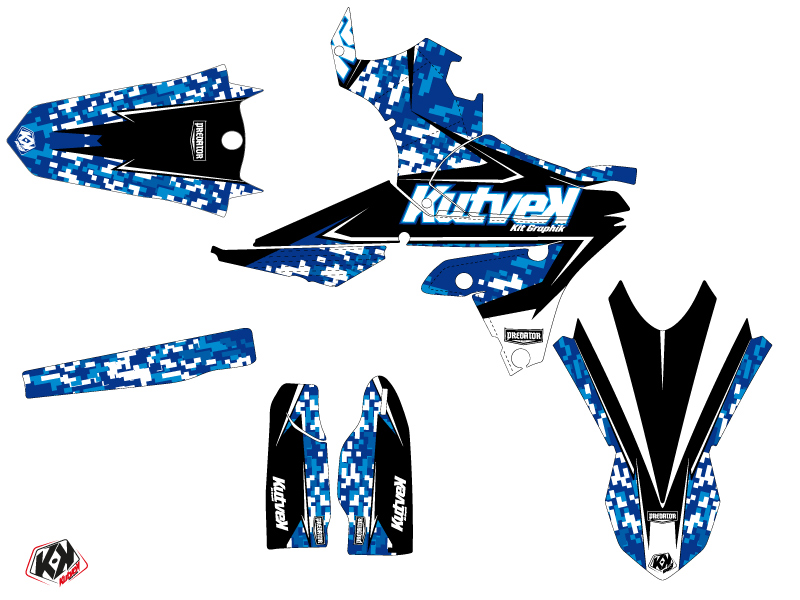Yamaha 450 WRF Dirt Bike Predator Graphic Kit Blue LIGHT