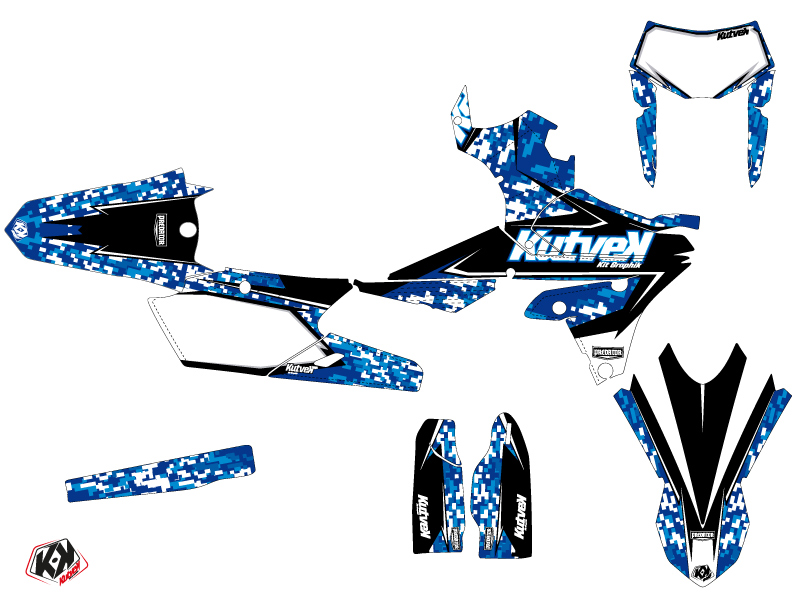 Yamaha 450 WRF Dirt Bike Predator Graphic Kit Blue