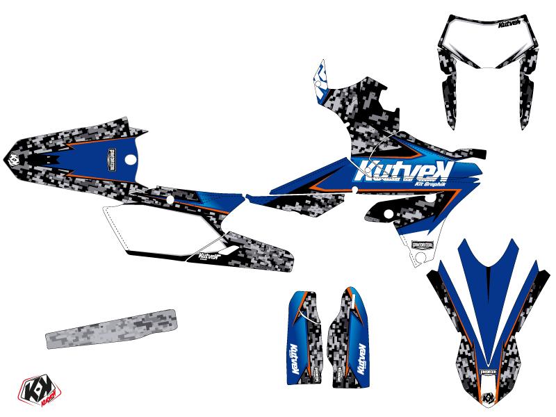 Yamaha 450 WRF Dirt Bike Predator Graphic Kit Black Blue