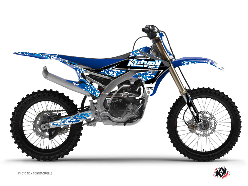 Yamaha 450 YZF Dirt Bike Predator Graphic Kit Blue