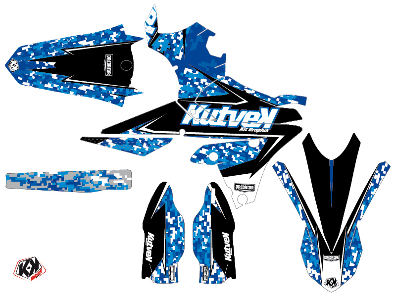 Yamaha 450 YZF Dirt Bike Predator Graphic Kit Blue LIGHT