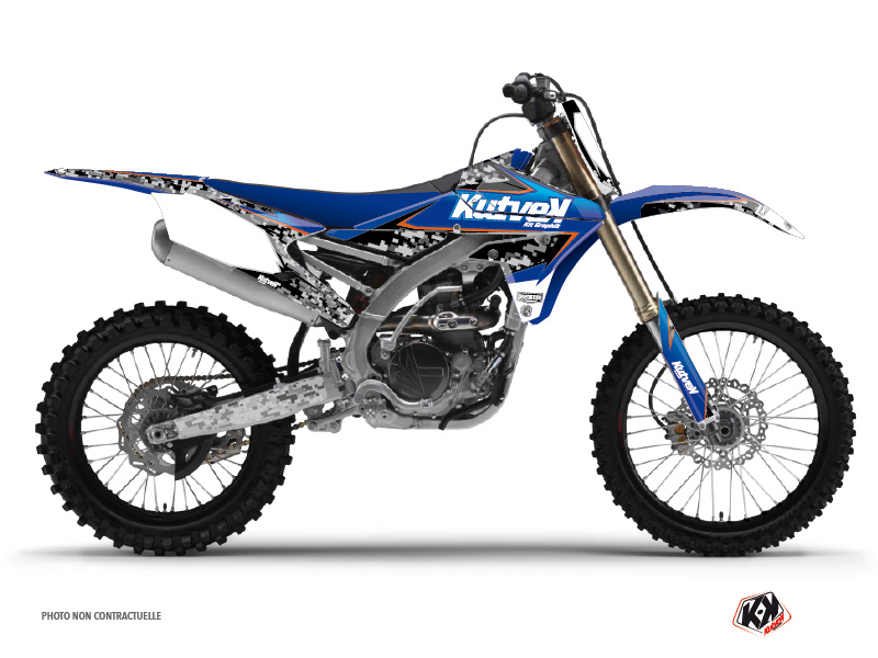 Yamaha 450 YZF Dirt Bike Predator Graphic Kit Black Blue