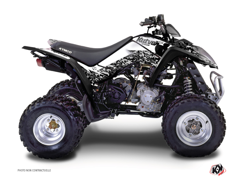 Kymco 90 MAXXER ATV Predator Graphic Kit White