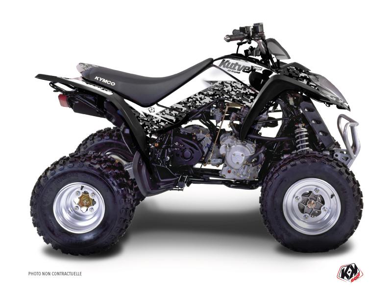 Kymco 50 MAXXER ATV Predator Graphic Kit White