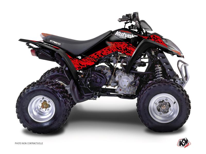 Kymco 50 MAXXER ATV Predator Graphic Kit Red Black