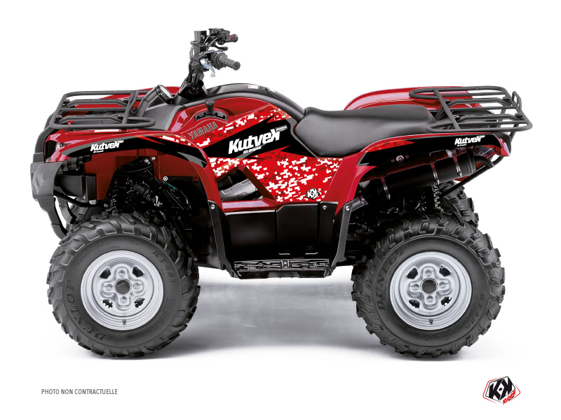 Yamaha 550-700 Grizzly ATV Predator Graphic Kit Red