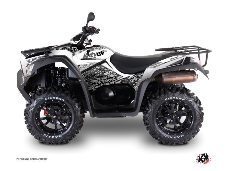 Kymco 550 MXU ATV Predator Graphic Kit White