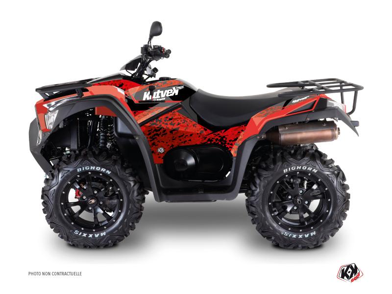 Kymco 550 MXU ATV Predator Graphic Kit Red Black