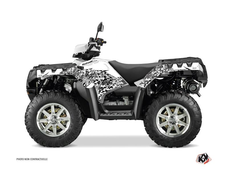 Polaris 550-850-1000 Sportsman Touring ATV Predator Graphic Kit White