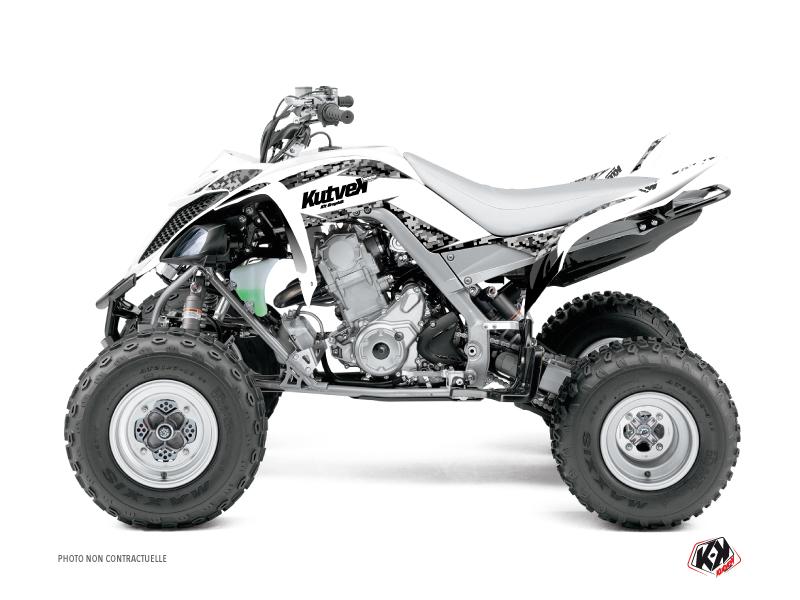 Yamaha 660 Raptor ATV Predator Graphic Kit White