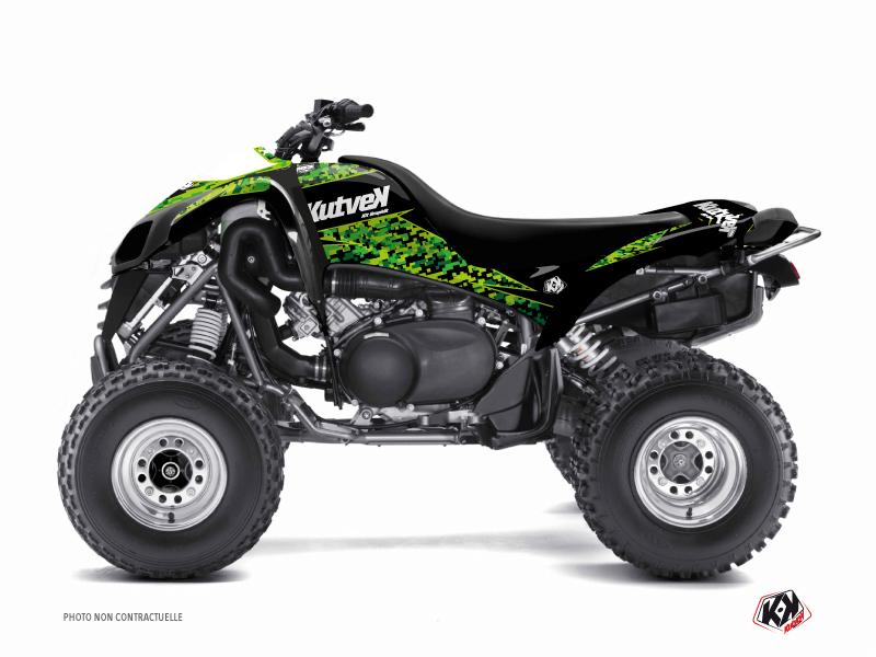 Kit Déco Quad Predator Kawasaki 700 KFX Noir Vert