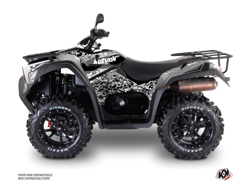 Kymco 700 MXU ATV Predator Graphic Kit Grey