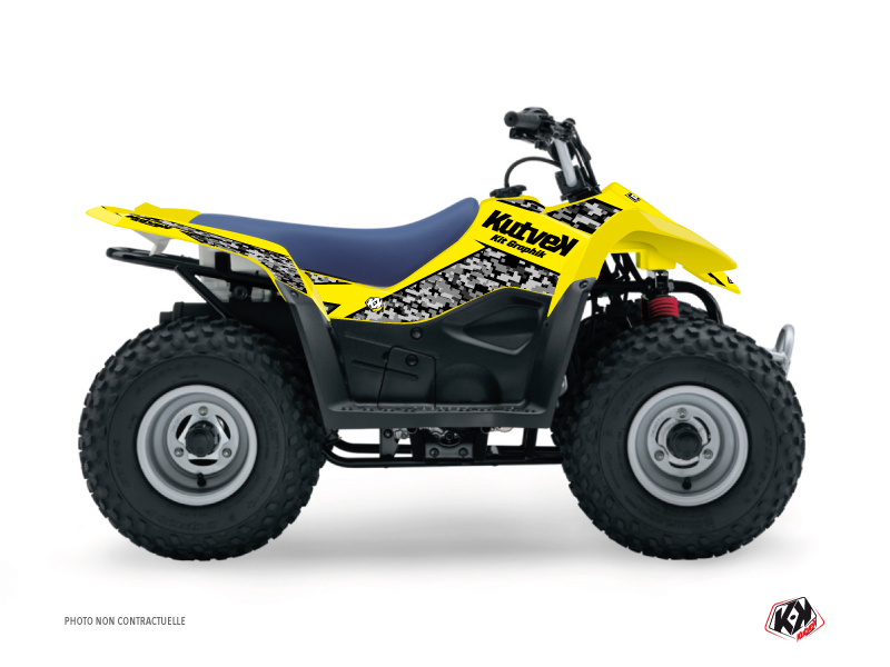 Suzuki 80 LT ATV Predator Graphic Kit Yellow