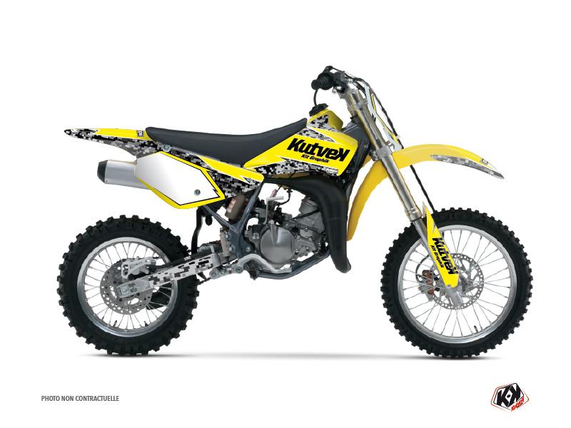 Suzuki 85 RM Dirt Bike Predator Graphic Kit Yellow