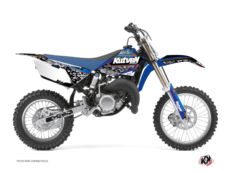 Yamaha 85 YZ Dirt Bike Predator Graphic Kit Black Blue