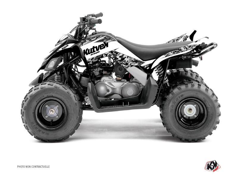 Yamaha 90 Raptor ATV Predator Graphic Kit White