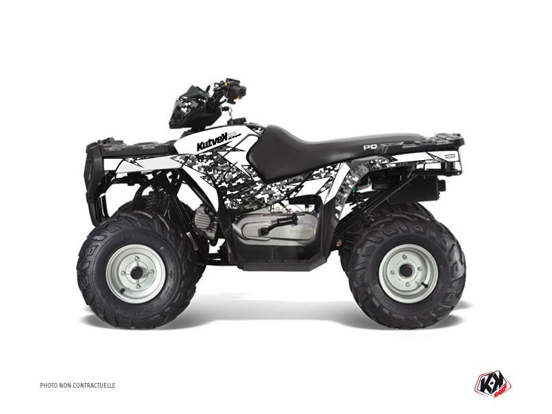 Polaris 90 Sportsman ATV Predator Graphic Kit White