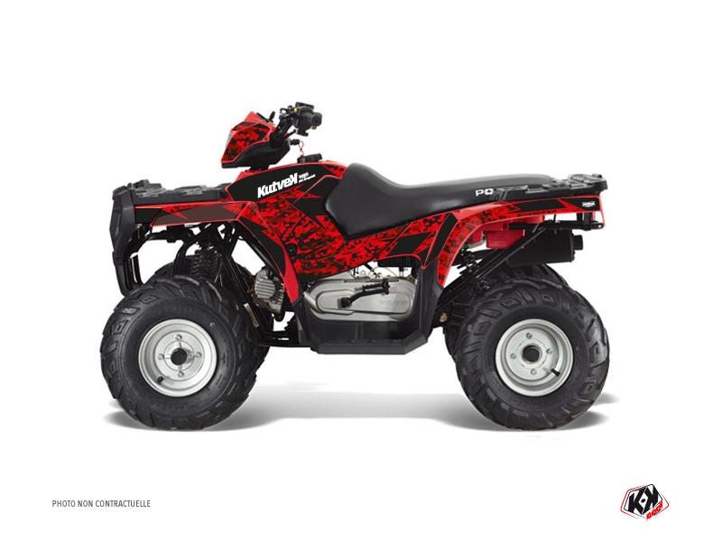 Polaris 90 Sportsman ATV Predator Graphic Kit Red Black