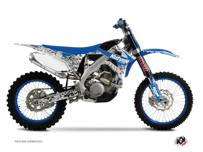 Kit Déco Moto Cross Predator TM EN 250 Bleu