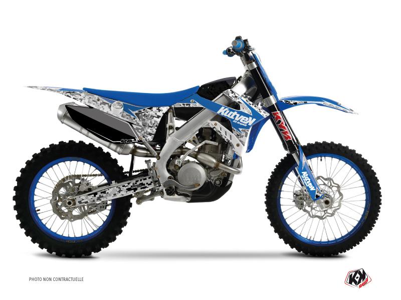 Kit Déco Moto Cross Predator TM MX 125 Bleu