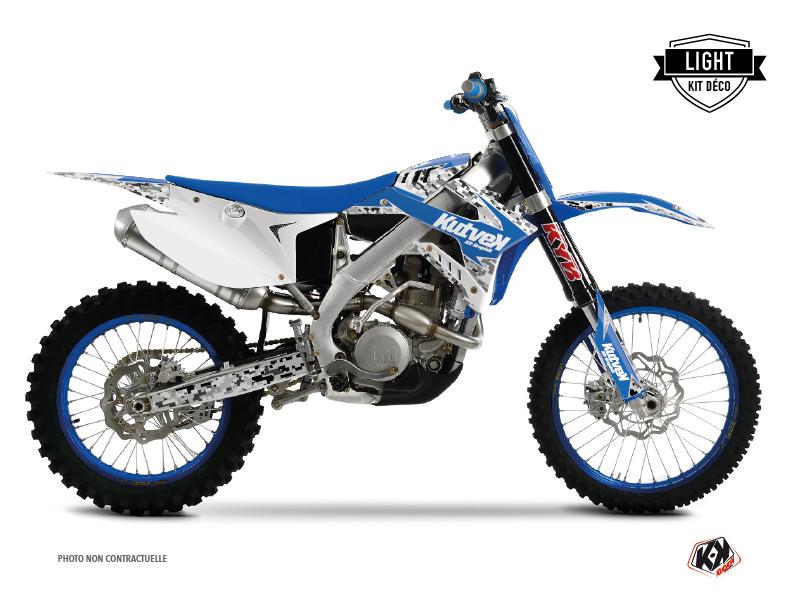 Kit Déco Moto Cross Predator TM MX 125 Bleu LIGHT