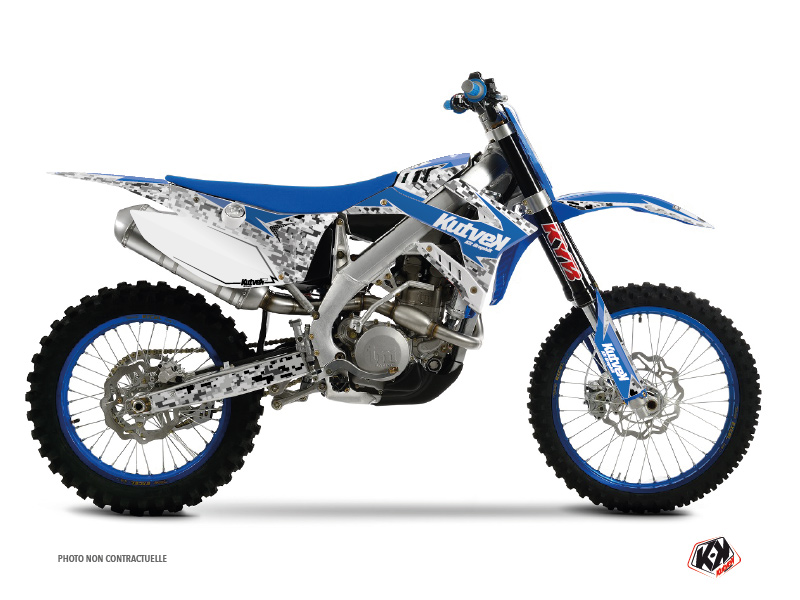 TM MX 450 FI Dirt Bike Predator Graphic Kit Blue